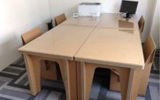 ダンボール製簡易テーブル