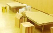 震災時の簡易机と椅子